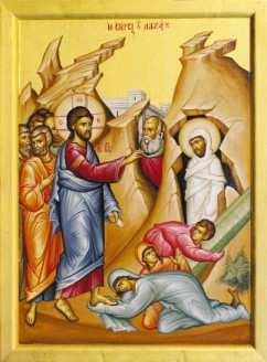 Pic: icon of Lazarus rising