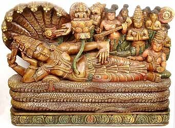Pic: Hindu god Vishnu Narayana