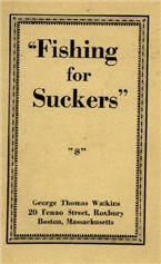 picture: cover of Fishing For Suckers by G T Watkins (1916)